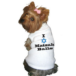 Doggie Sweatshirt - I (Star Graphic) Matzah Balls