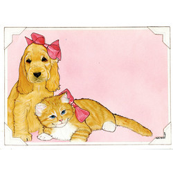 Dog and Cat Note Cards