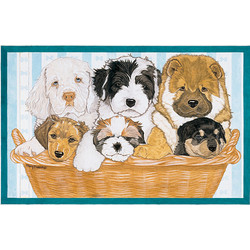 Doggies in a Basket Birthday Cards