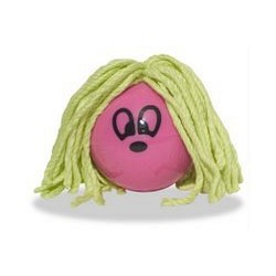Lg. Hairball - Pink (Plastic and Cotton)