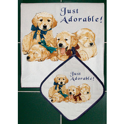 Breed Specific Dish Towel & Pot Holder Sets (D-O)