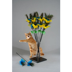 The PURRfect Peacock Feather Cat Toy