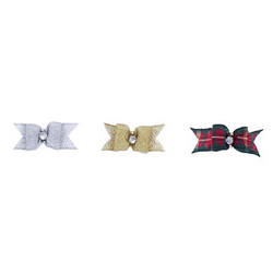 Starched Show Bows Metallic