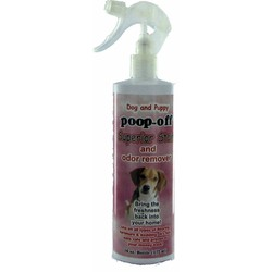 Poop-Off Superior Stain & Odor Rem. / Free Pet Urine Locator Black light.