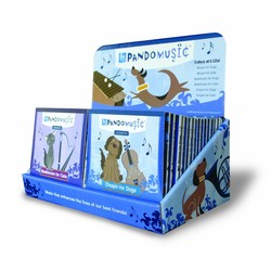 PandoMusic Full Display Kit - 21 Cat CD's/9 Dog CD's