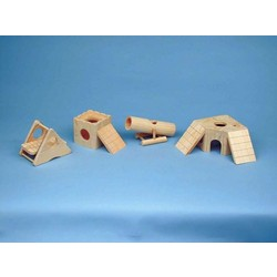 PLAY/HIDE-A-WAY WOOD TOYS - For Fun & Exercise!