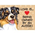 Express Yourself Signs - Love is... being owned by a..... (Breed Specific): Dogs Products for Humans Office Supplies