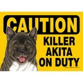 Express Yourself Signs - CAUTION - (dog) on duty (4/Case)( Breed Specific): Made in the USA