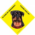 Save My Pet Signs With Suction Cup For In Home Window - (6/Case) (Breeds R-Y): Dogs For the Home Miscellaneous