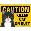 Express Yourself Signs - CAUTION - (Cat) on duty (4/Case): Cats Products for Humans
