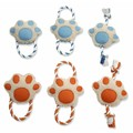 Paw with Rope Dog Toys- 6 Pack<br>Item number: 72004NPDQ: Dogs Toys and Playthings