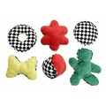 Checker Plush - 6 Pack<br>Item number: 70058PDQ: Dogs Toys and Playthings