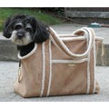 Shearling Tote: Dogs Travel Gear