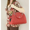 Small Open Pet Tote - Black, Tan, or Red