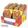 Jumbo Peanut Butter Heart 20ct Display<br>Item number: 11501-20JH: Dogs