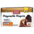 Simple Solution Disposable Diapers - 12/Pack: Dogs Stain, Odor and Clean-Up