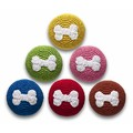 Crochet Bone Ball - 6 Pack<br>Item number: TYCRBLBO: Dogs Toys and Playthings
