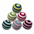 Crochet Striped Ball - 6 Pack<br>Item number: TYCRBLST: Dogs Toys and Playthings