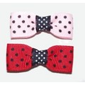 Double Polka Dot Bow Elastics: Dogs Shampoos and Grooming Miscellaneous