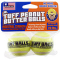 Jr. Tuff Peanut Butter Balls 2 pk: Dogs Toys and Playthings Fetch & Tug Toys
