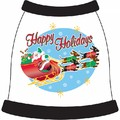 Santa and Weiners Dog T-shirt: Dogs Pet Apparel Tanks