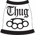 Thug Knuckles Dog T-Shirt: Dogs Pet Apparel