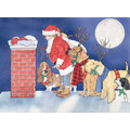 Santa and his Reindogs<br>Item number: C310: Dogs