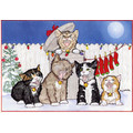 Caroling Kittens<br>Item number: C404: Cats Holiday Merchandise