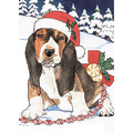 Bassets Christmas<br>Item number: C444: Dogs