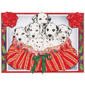 Dalmatians in a Basket<br>Item number: C490: Dogs Holiday Merchandise