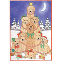 Golden Christmas Tree<br>Item number: C496: Dogs Holiday Merchandise