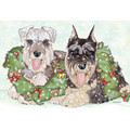Miniature Schnauzers<br>Item number: C823: Dogs Holiday Merchandise