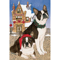 Boston Terrier Tea Time<br>Item number: C919: Dogs Holiday Merchandise