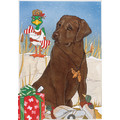 Lab Chocolate<br>Item number: C923: Dogs Gift Products Greeting Cards