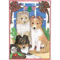 Sheltland Pups<br>Item number: C930: Dogs Gift Products Greeting Cards