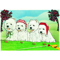Westies on the Green<br>Item number: C938: Dogs