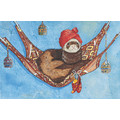 Ferret - in a hammock<br>Item number: C974: Small animals Holiday Merchandise