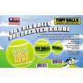 Custom Color Logo Tuff Balls: Dogs Toys and Playthings
