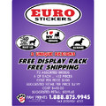 EURO STICKERS BY PAW PRINTS STARTER COUNTER TOP BOX DISPLAY PACKAGE<br>Item number: 500