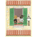Dog and Cat-La Villa Note Cards<br>Item number: N992B: Cats