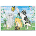 Cats-Springtime Kitties Note Cards<br>Item number: N456B: Cats