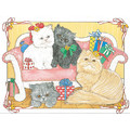 Cats-Persian Note Cards #1<br>Item number: N470B: Cats