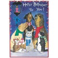 Dog and Cat-Birthday Blues<br>Item number: B825: Dogs Holiday Merchandise Birthday Items