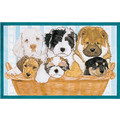 Doggies in a Basket Birthday Cards<br>Item number: B446: Dogs Holiday Merchandise Birthday Items