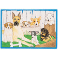 Dog-Out by the Log Birthday Cards<br>Item number: B448: Dogs Holiday Merchandise Birthday Items