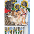 Dog and Cat-Summer Breeze Birthday Cards<br>Item number: B875: Dogs Holiday Merchandise Birthday Items