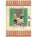 Dog Cat and other small animals-La Villa Birthday Cards<br>Item number: B993: Cats