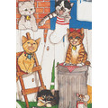 Cats-Backyard Kitties Birthday Cards<br>Item number: B455: Cats