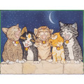 Cats-Kitty Quintette Birthday Cards<br>Item number: B457: Cats