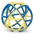 Boinky Ball - Blue and Gold (Synthetic Rubber)<br>Item number: BK1: Dogs Toys and Playthings